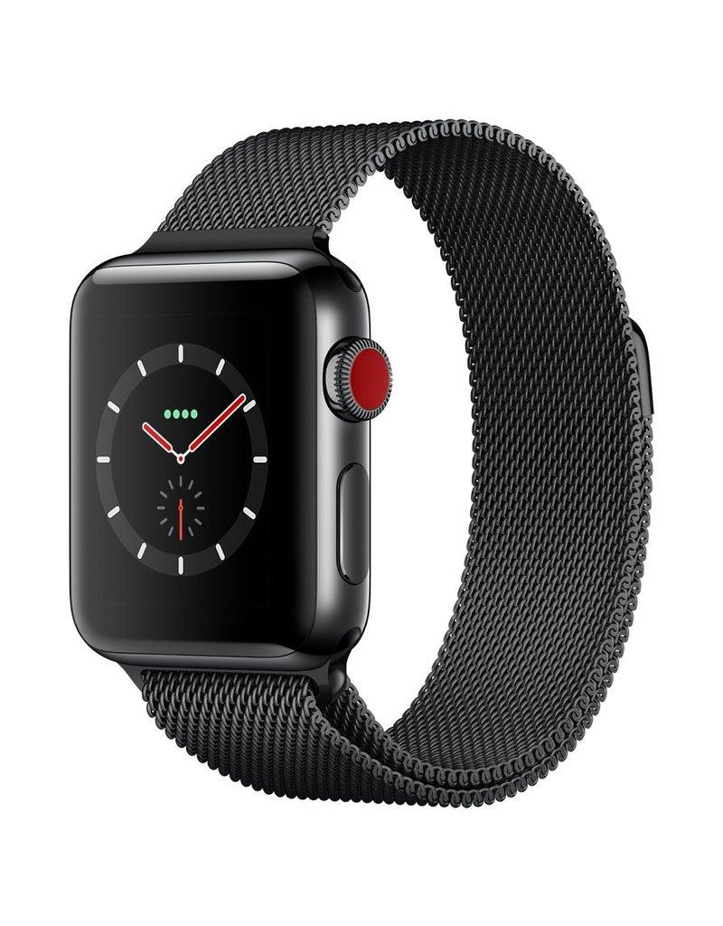Apple Watch series 3 - 42MM - Space Black Stainless Steel Case - Space Black Milanese Loop