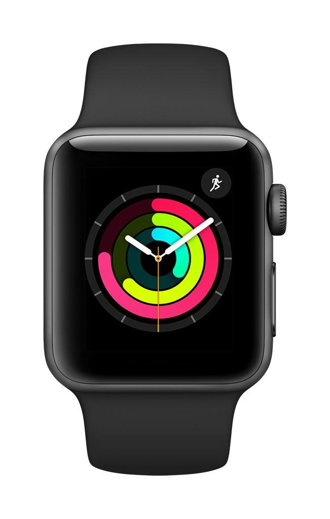 Apple Watch series 3 - 38MM - Space Grey Aluminium - Black Sport Band