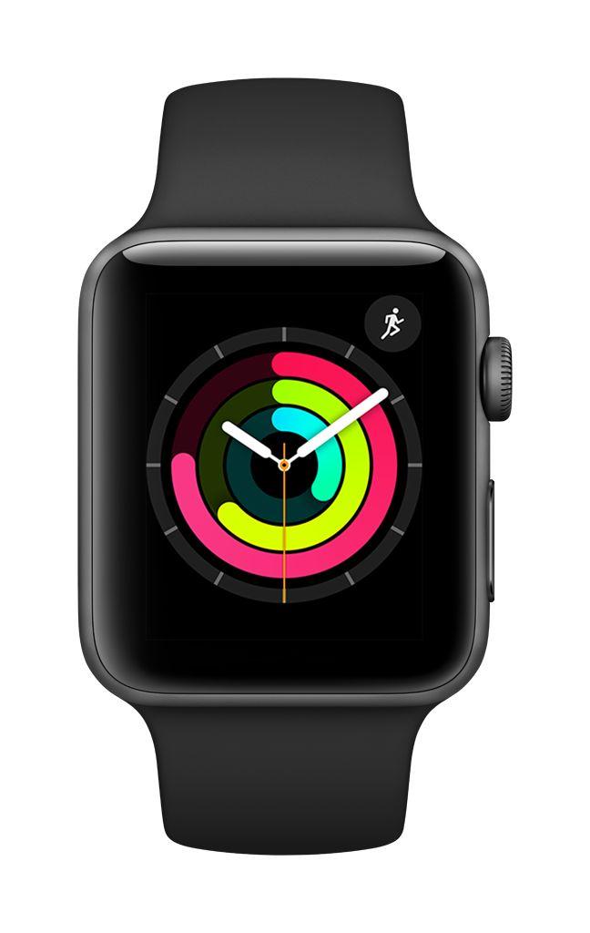 Apple Watch series 3 - 42MM - Space Grey Aluminium - Black Sport Band