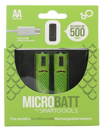 Microbatt Rechargable Micro AA Batteries