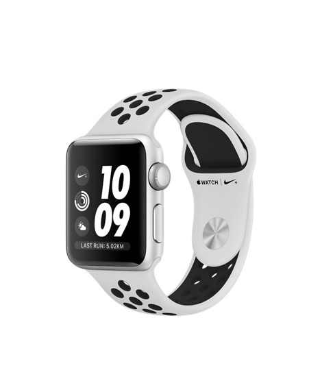 Apple Watch Nike+ GPS - 38MM - Silver Aluminium Case with Pure Platinum/Black Nike Sport Band