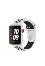 Apple Watch Nike+ GPS + Cellular - 42MM - Silver Aluminium Case with Pure Platinum/Black Nike Sport Band