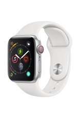 Apple Watch series 4 GPS, 40MM, Silver Aluminium Case, White Sport Band