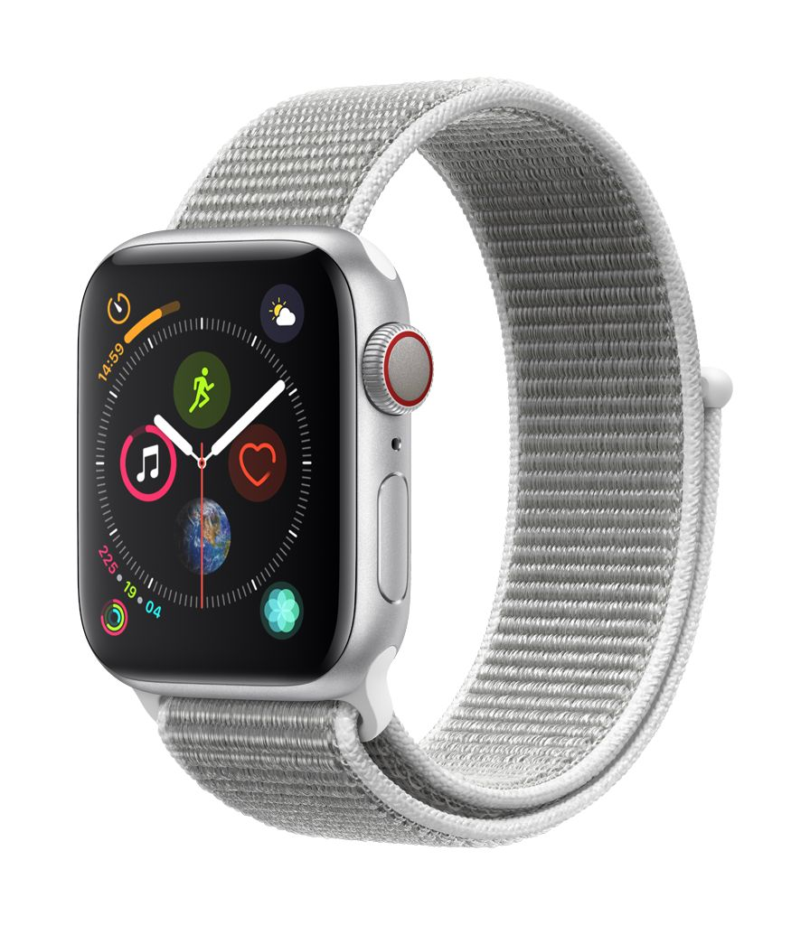 Apple Watch series 4 GPS, 40MM, Silver Aluminium Case, Seashell Sport Loop