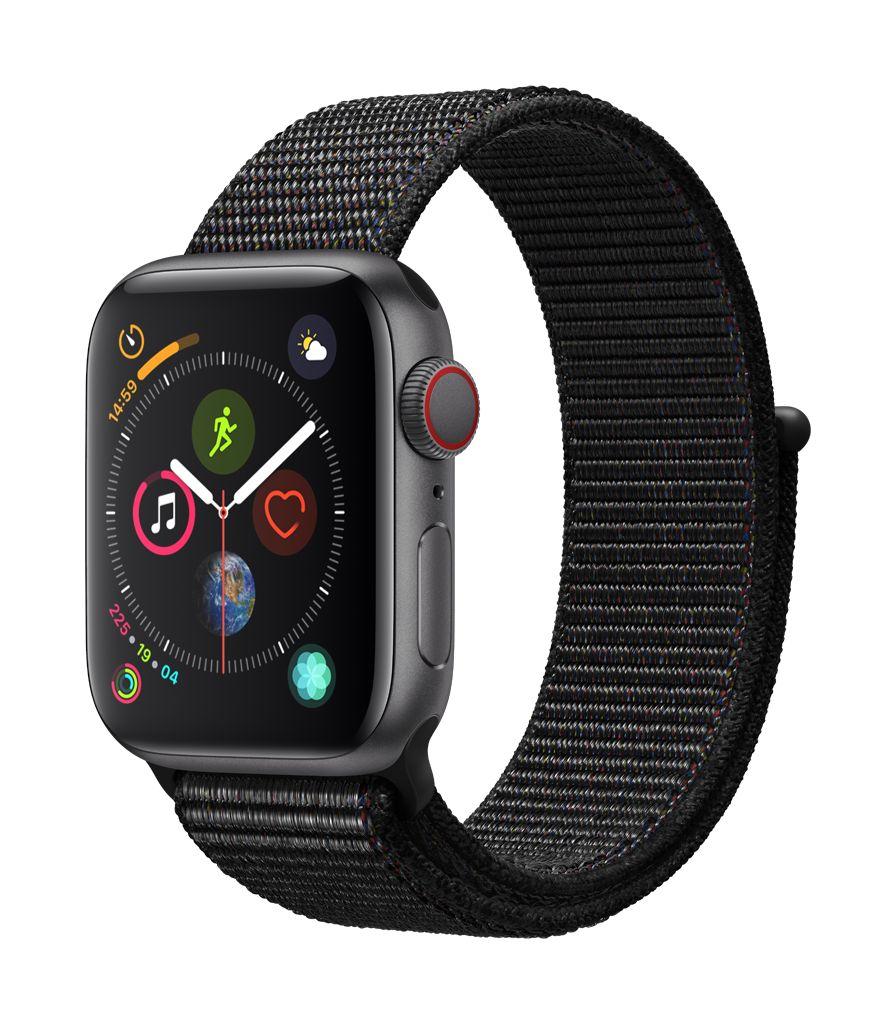 Apple Watch series 4 GPS, 40MM, Space Grey Aluminium Case, Black Sport Loop