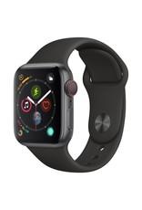 Apple Watch series 4 GPS, 44MM, Space Grey Aluminium Case, Black Sport Band