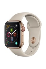 Apple Watch series 4 GPS, Cellular, 40MM, Gold Stainless Steel Case, Stone Sport Band
