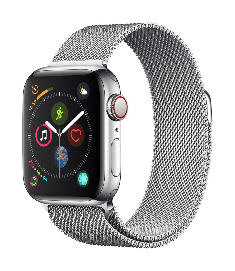 Apple Watch series 4 GPS, Cellular, 40MM, Stainless Steel Case, Milanese Loop