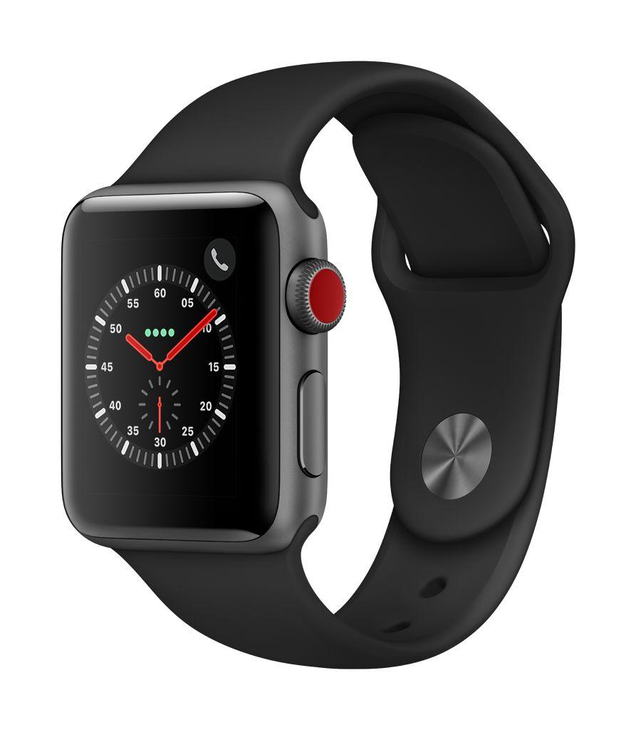Apple Watch series 3 GPS, Cellular, 38MM, Space Grey Aluminium Case, Black Sport Band