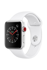 Apple Watch series 3 GPS, Cellular, 42MM, Silver Aluminium Case, White Sport Band