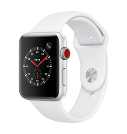 Apple Watch series 3 GPS, Cellular, 42MM, Silver Aluminium Case, White Sport Band