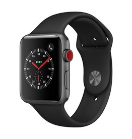 Apple Watch series 3 GPS, Cellular, 42MM, Space Grey Aluminium Case, Black Sport Band