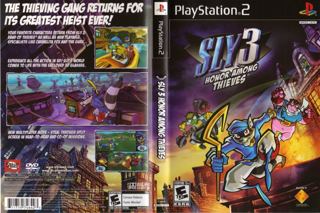Sony Playstation 2 (PS2) Sly 3 Honor Among Thieves