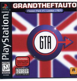 Sony Playstation 1 (PS1) Grand Theft Auto London Mission Pack GTA