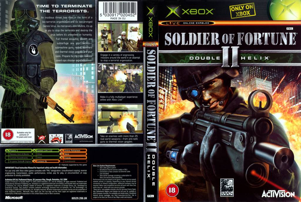 Microsoft Xbox Soldier of Fortune 2: Double Helix