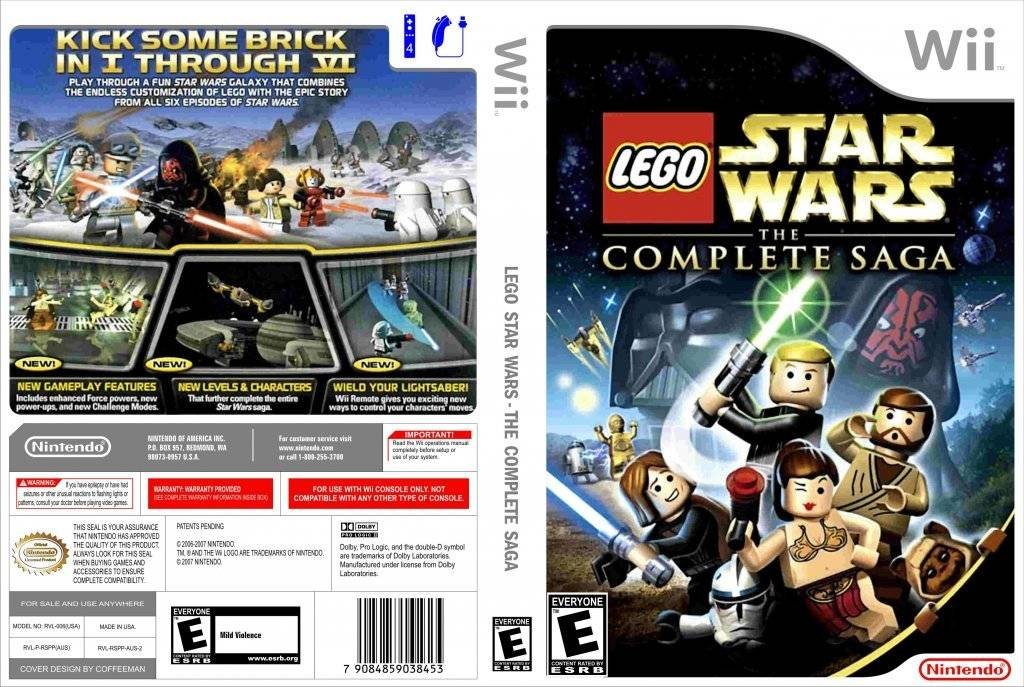 Nintendo Wii LEGO Star Wars Complete Saga - M and M Video Games