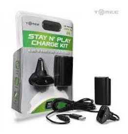 Microsoft Xbox 360 360 Stay N Play Charge Kit (Black)