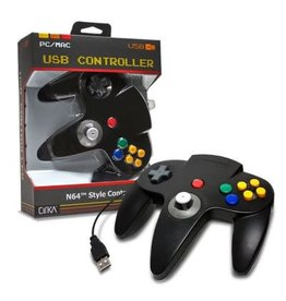 Nintendo 64 N64 USB Controller (Black)