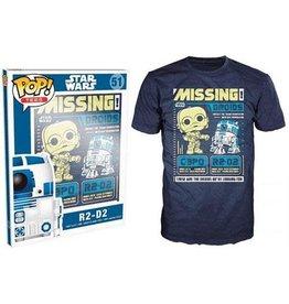 Generic POP T-shirt - Star Wars - C3PO R2D2 Poster - Large