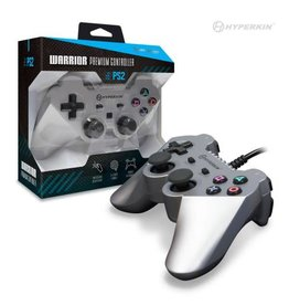 Playstation 2 PS2 Wired Controller - Silver (Warrior Premium)
