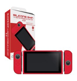 Nintendo Switch Switch Console and Joy-Con Silicone Skins (Neo Red) - Hyperkin