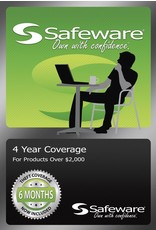 Safeware Safeware 4 Year Coverage for Products Over $2,000 Green Card Accidental Damage and theft coverage.