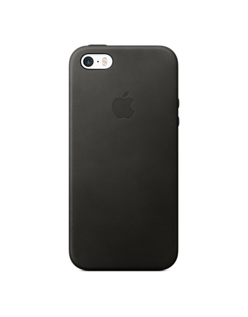 Apple iPhone SE Leather Case - Black - MMHH2ZM/A