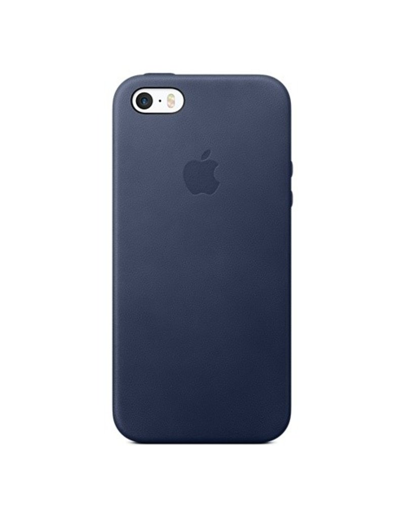 Apple iPhone SE Leather Case - Midnight Blue - MMHG2ZM/A