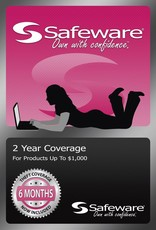 Safeware Safeware 2 Year Coverage for Products up to $1,000 Pink Card Accidental Damage and theft coverage.