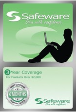 Safeware Safeware 3 Year Coverage for Products Over $2,000 Light Green Card Accidental damage and theft coverage