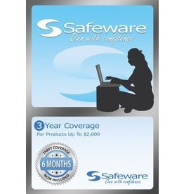 Safeware Safeware 3 Year Coverage for Products up to $2000 Light Blue Card Accidental Damage and theft coverage