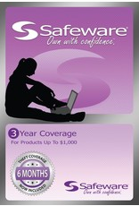 Safeware Safeware 3 Year Coverage for Products Up To $1000 Light Purple Card Accidental Damage and Theft coverage