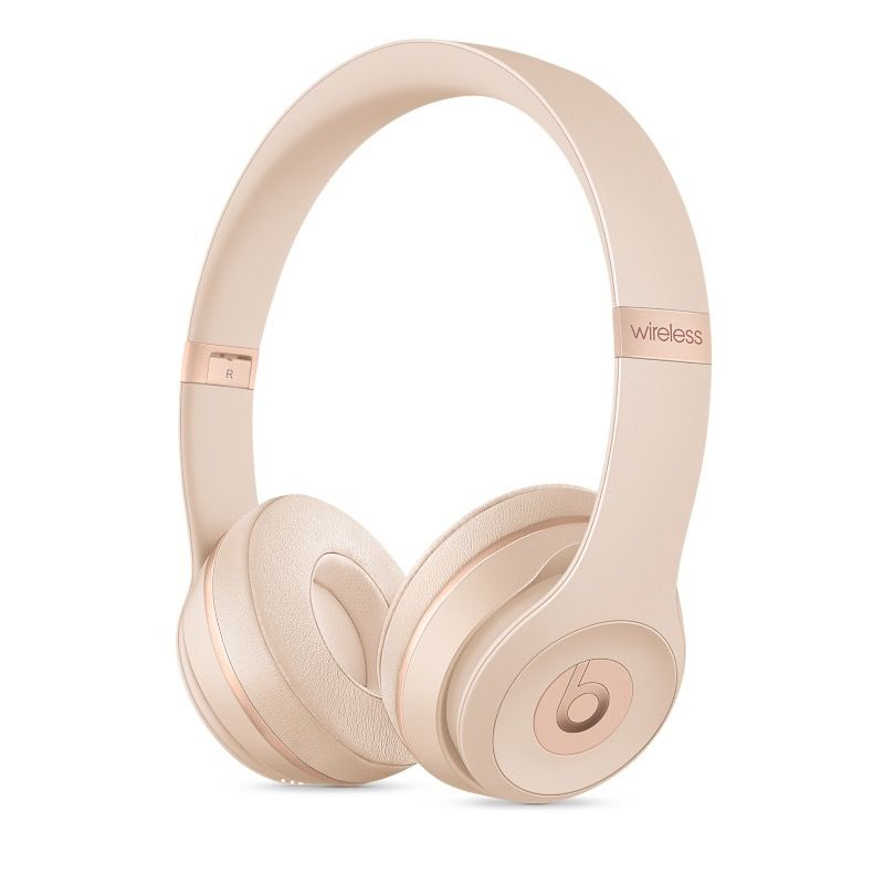 Apple Beats Solo3 Wireless On-Ear Headphones - Matte Gold
