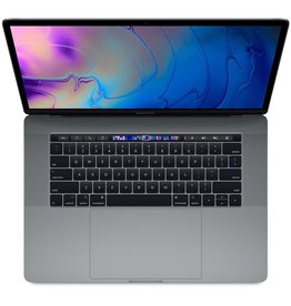 Apple 15-inch MacBook Pro with Touch Bar: 2.6GHz 6-core 8th-generation Intel Core i7 processor, 512GB - Space Gray, 2.6GHz 6-core 8th-generation Intel Core i7 processor, Turbo Boost up to 4.3GHz, Retina display with True Tone, Touch Bar and Touch ID, Radeon Pro