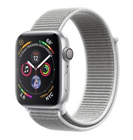 Apple Apple Watch Series 4 GPS, 44mm Silver Aluminum Case with Seashell Sport Loop Band with 44mm case