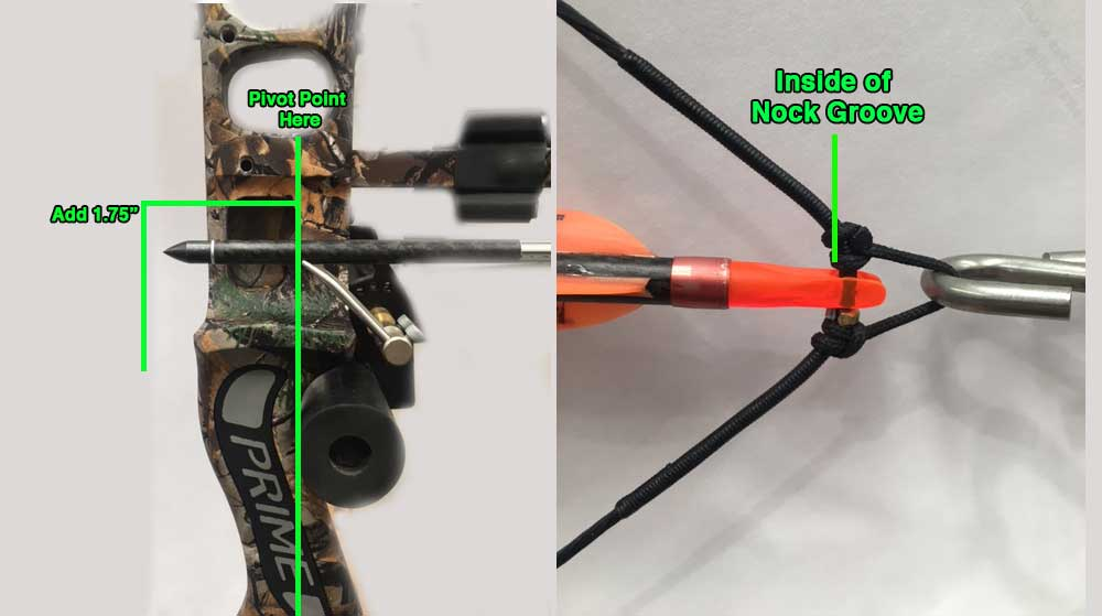 how to measure for bow draw length