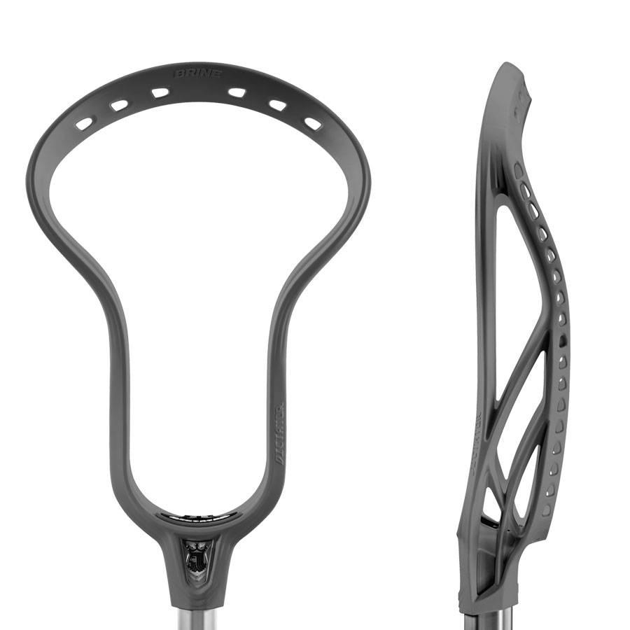 Brine Dictator X Grey Unstrung Lacrosse Head