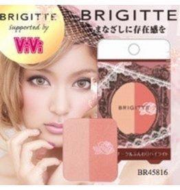 BRIGITTE 日本最新限量販售-日雜 VIVI-蘿菈代言 BRIGITTE- 2 色頰彩-腮紅  BR45816