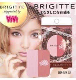 BRIGITTE 日本最新限量販售-日雜 VIVI-蘿菈代言 BRIGITTE- 2 色頰彩-腮紅  BR45815