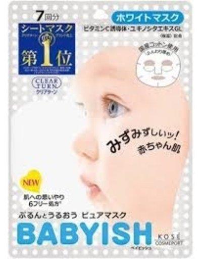 KOSE KOSE高絲 babyish嬰兒肌抗敏滋潤保濕美白面膜