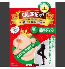 TRAIN 小豬襪肥蘿蔔BYEBYE超級階段式著壓美腿褲襪(黑色80丹尼)