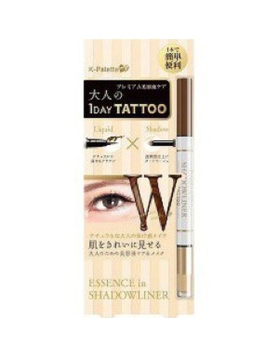 K-PALETTE K﹣Palette 1 Day Tattoo Dual Liquid Eyeliner X Shadow #Deep Brown X Nude Beige眼影眼線筆