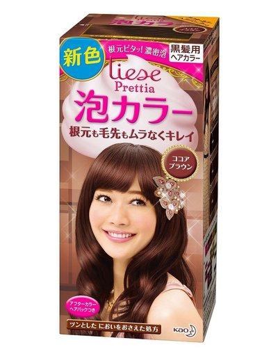 日本花王liese 泡沫染发剂植物泡泡染发膏可可棕