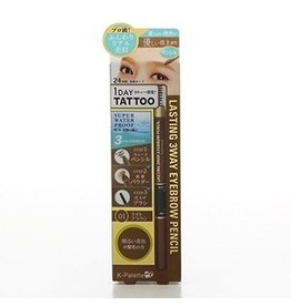K-PALETTE K﹣Palette 1 Day Tattoo Lasting 3 Way Eyebrow Pencil Liner 三用眉筆 01號