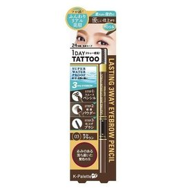 K-PALETTE K﹣Palette 1 Day Tattoo Lasting 3 Way Eyebrow Pencil Liner 03 (K-Palette三用眉筆03號)