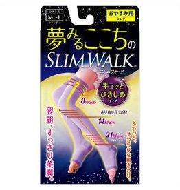 Slim Walk 纖の步軟棉棉睡眠壓力纖腿襪M~L碼 紫色短款