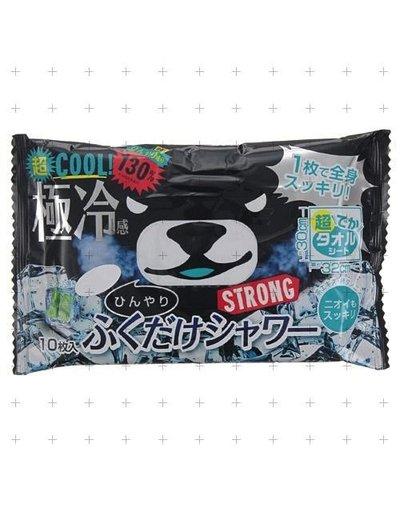 黑熊超極冷感濕紙巾 薄荷味 可全身用 10枚入