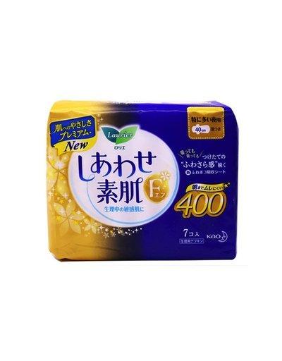花王樂兒雅素肌衛生巾7片超安心F系列夜用40cm