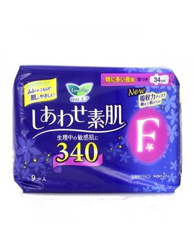 花王樂而雅F超量多夜用衛生巾(34cm)9片