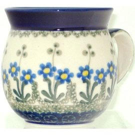 Ceramika Artystyczna Bubble Cup Small Poppies Blue